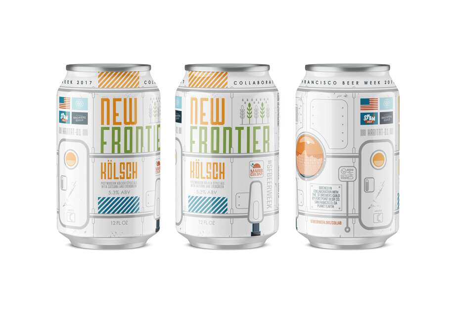 The San Francisco Brewers Guild's new collaboration beer, New Frontier, is a clean Kolsch-style ale made with Douglas fir tips and satsuma fruit. For the first time, it will be sold in cans.