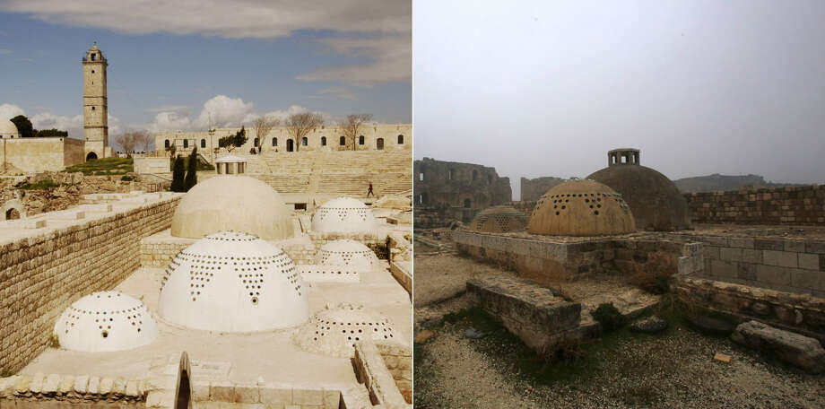 Aleppo before and after the civil warGripping before and after photos of Aleppo's historic Citadel sites put the destruction and terror that their civil war has inflicted on the ancient city.Continue clicking to see shocking images of some of Aleppo's historic sites ruined by the destruction of the five-year civil war. Photo: Getty Images