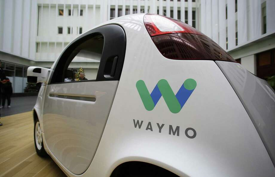 The Waymo driverless car is displayed during a Google event Tuesday in San Francisco. The self-driving car project that Google started seven years ago has grown into a company called Waymo. The new identity announced Tuesday marks another step in an effort to revolutionize the way people get around. Photo: Eric Risberg /Associated Press / Copyright 2016 The Associated Press. All rights reserved.
