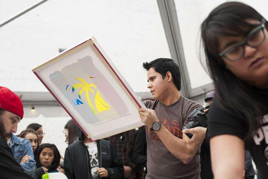 Andrew Scicluna and Jesus Lozano plan to do live screen printing. Photo: Daniel Garcia Of Content Magazine