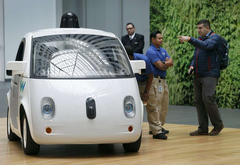The Waymo self-driving car is unveiled at Google's offices in San Francisco, Calif. on Tuesday, Dec. 13, 2016. Photo: Paul Chinn, The Chronicle
