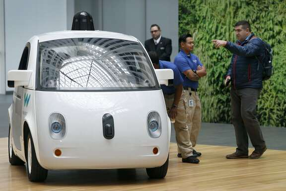 The Waymo self-driving car is unveiled at Google's offices in San Francisco, Calif. on Tuesday, Dec. 13, 2016.