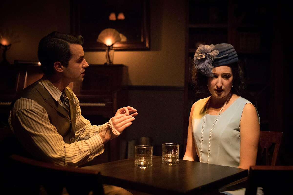"""From left: Zachary Eulberg as Herman and Theresa Miller as Evelyn in """"The Speakeasy."""""""