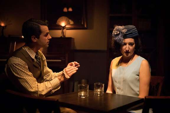 "From left: Zachary Eulberg as Herman and Theresa Miller as Evelyn in ""The Speakeasy."""