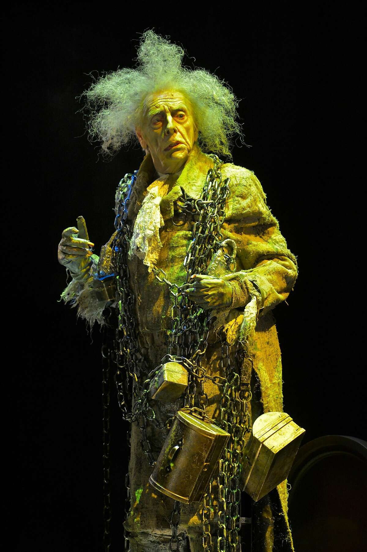 """Ken Ruta as the Ghost of Jacob Marley in ACT's """"A Christmas Carol."""""""