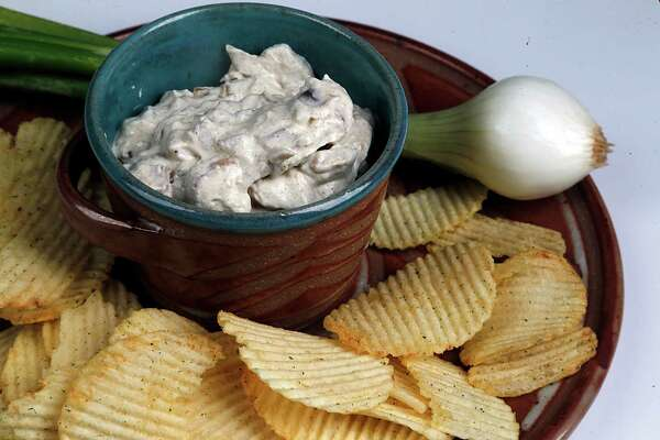 Onion dip made with with caramelized onions
