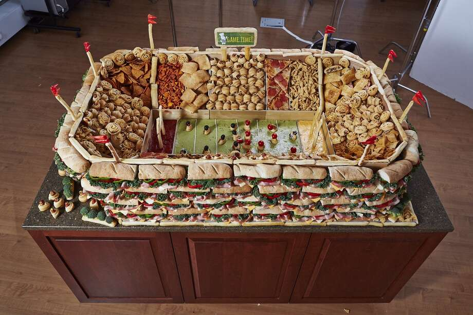 Snack stadiums, or snackadiums, are DIY projects for displaying football-watching food and snacks. The popularity of snackadiums spike during Super Bowls. This snackadium was built using Pillsbury products and recipes. Pillsbury.com offers recipes and tips for building snackadiums. Photo: Pillsbury