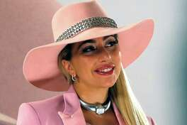 Entertainer Lady Gaga poses for photographers during an event to promote her new album 'Joanne' in Tokyo, Wednesday, Nov. 2, 2016. (AP Photo/Shuji Kajiyama)