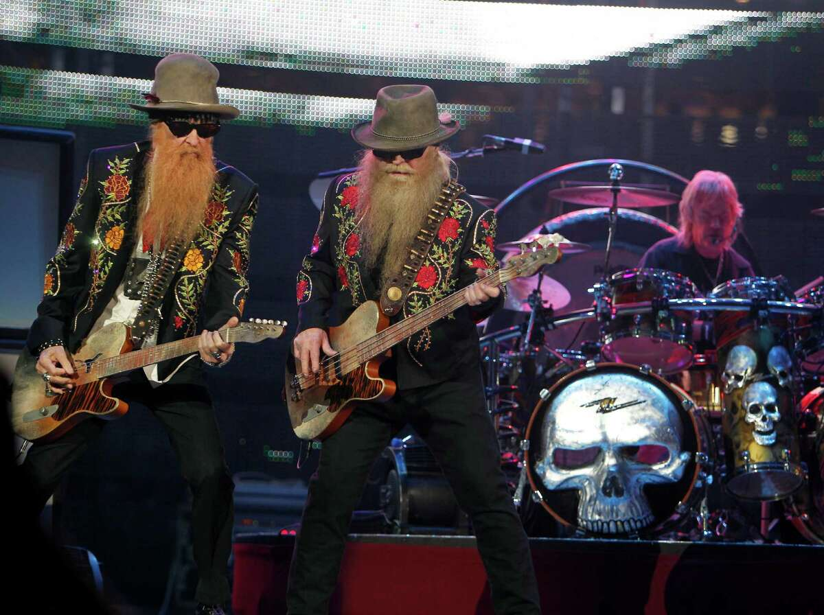 Dusty Hill, Billy Gibbons and Frank Beard of ZZ Top.