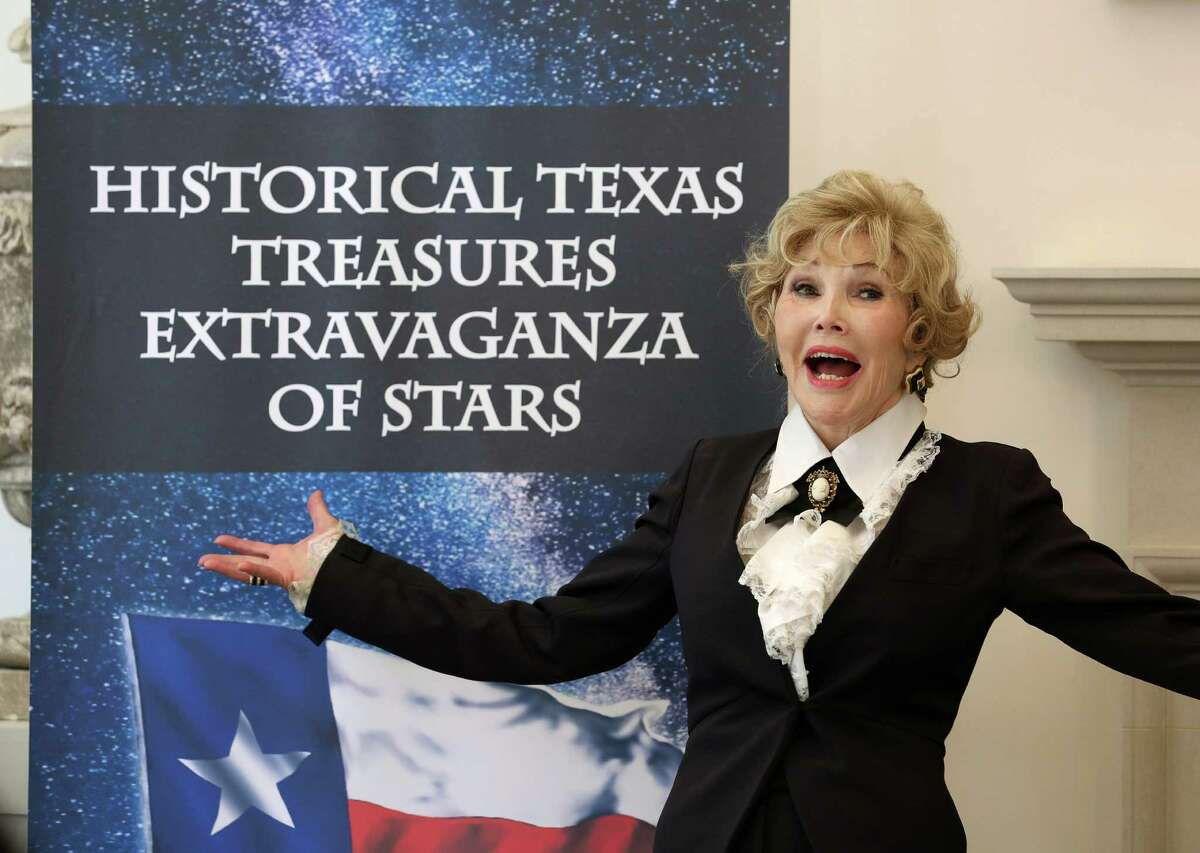 """Joanne King Herring hosts a kick-off party for her """"Historical Texas Treasures Extravaganza of Stars"""" super bowl party Wednesday, Nov. 16, 2016, in Houston. ( Yi-Chin Lee / Houston Chronicle )"""