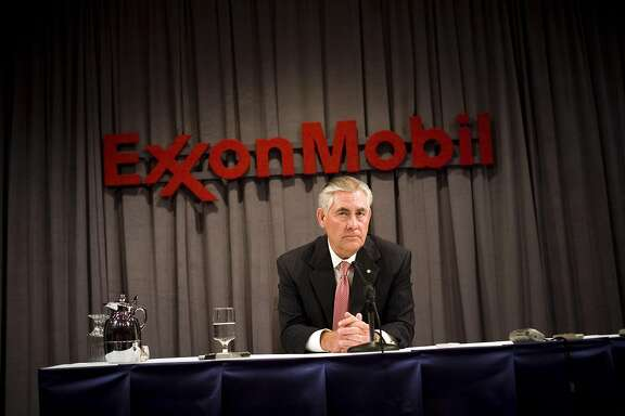 FILE - Rex Tillerson Named US Secretary of State DALLAS - MAY 28: ExxonMobil Chairman Rex Tillerson speaks at a press conference after the ExxonMobil annual shareholders meeting at the Morton H. Meyerson Symphony Center May 28, 2008 in Dallas, Texas. A total of 19 resolutions were voted on today by shareholders. (Photo by Brian Harkin/Getty Images)