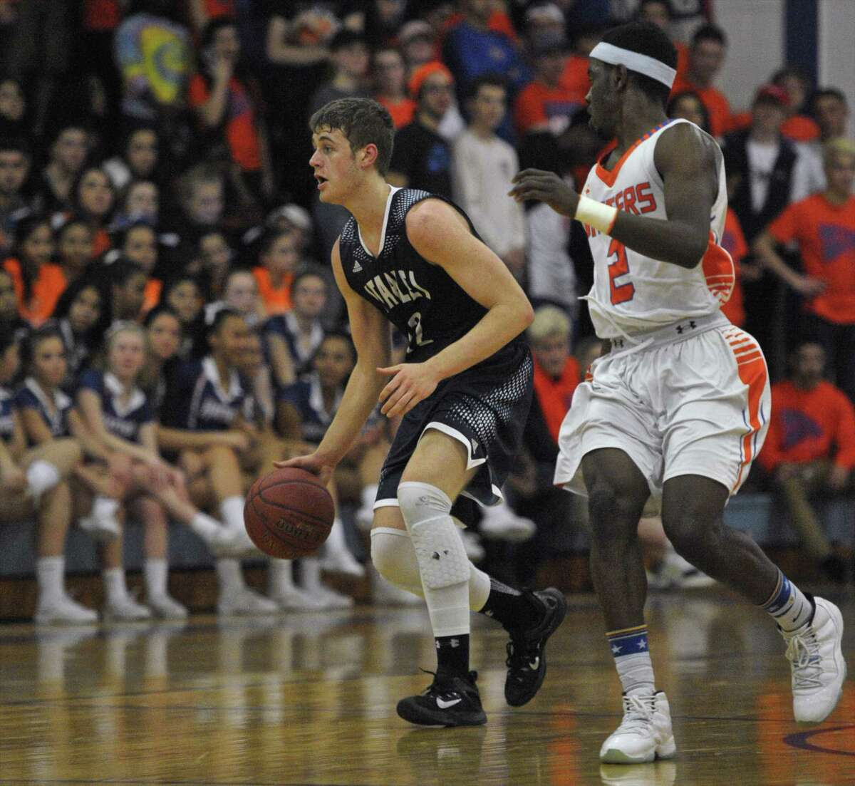 Photographs from the boys first round Connecticut Class LL basketball game between Staples and Danbury high schools, on Tuesday night, March 8, 2016, at Danbury High School, Danbury, Conn.