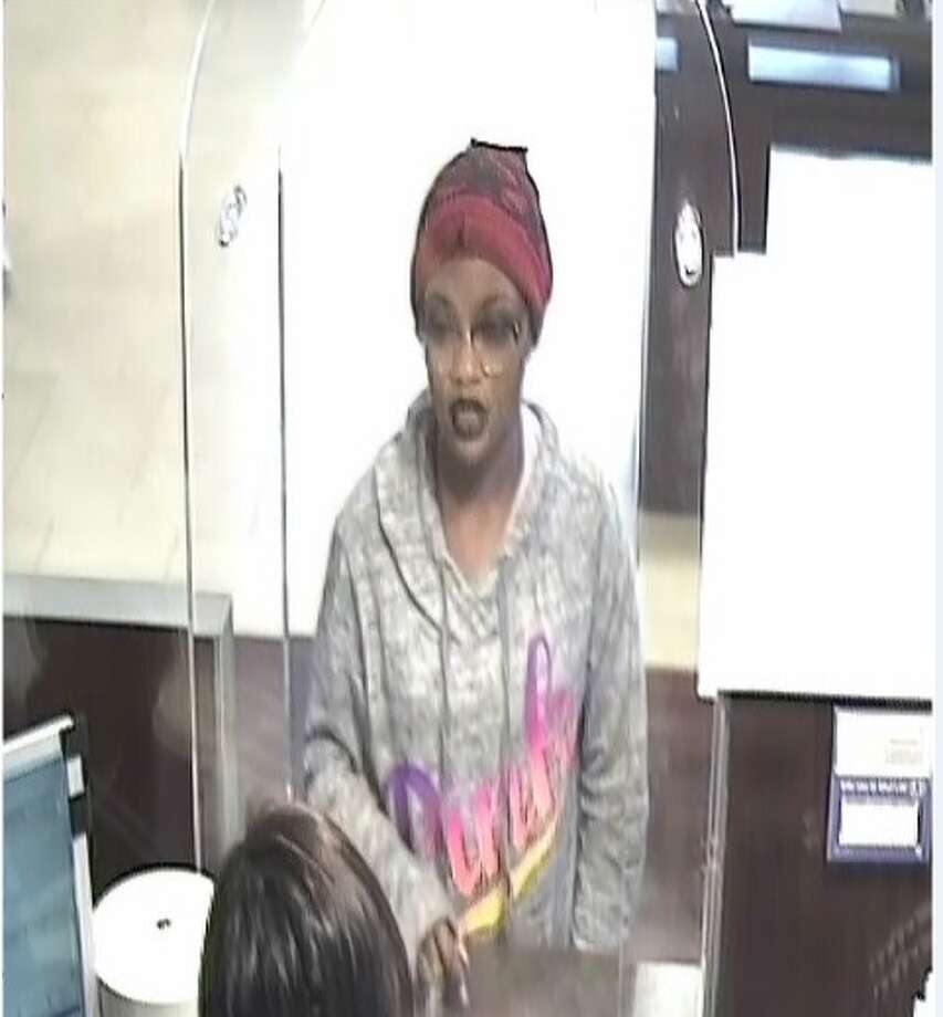 The Montgomery County Sheriff's Office is looking for a woman who robbed a bank in the 2100 block of Rayford Road on Tuesday. Anyone who recognizes this person is urged to call MCSO at 936-760-5876 or the Montgomery County Crime Stoppers at 800-392-STOP (7867). Photo: Submitted Photo