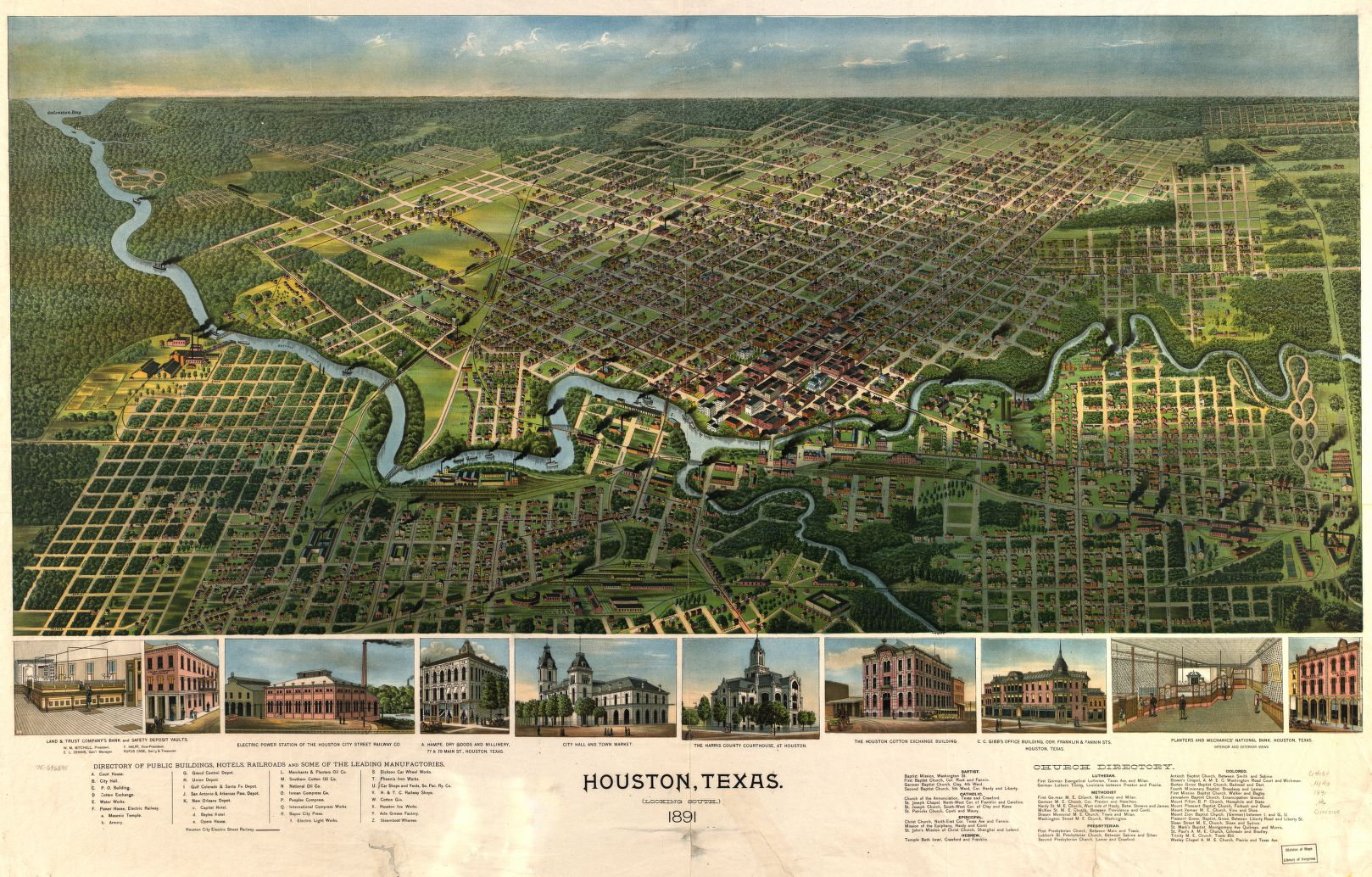 Map Of Texas Early 1800s.Library Of Congress Maps Show An Aerial View Of Early Texas