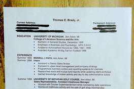Tom Brady posted this photo of his resume on Facebook.
