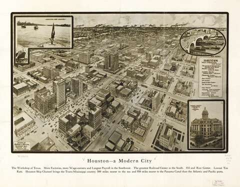 Map Of Texas Early 1800s.Panoramic Maps Of Texas Cities In The 1800s Early 1900s Houston
