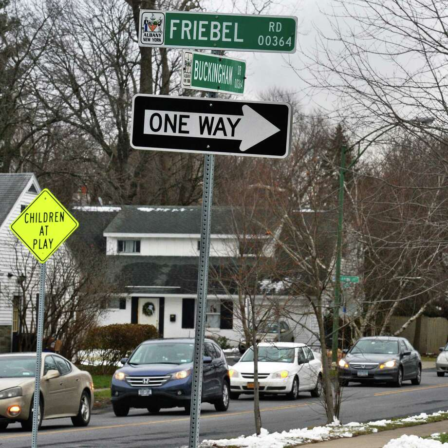 Traffic at the intersection of Buckingham Drive and Friebel Rd. Tuesday Dec. 13, 2016 in Albany, NY.  (John Carl D'Annibale / Times Union) Photo: John Carl D'Annibale / 20039140A