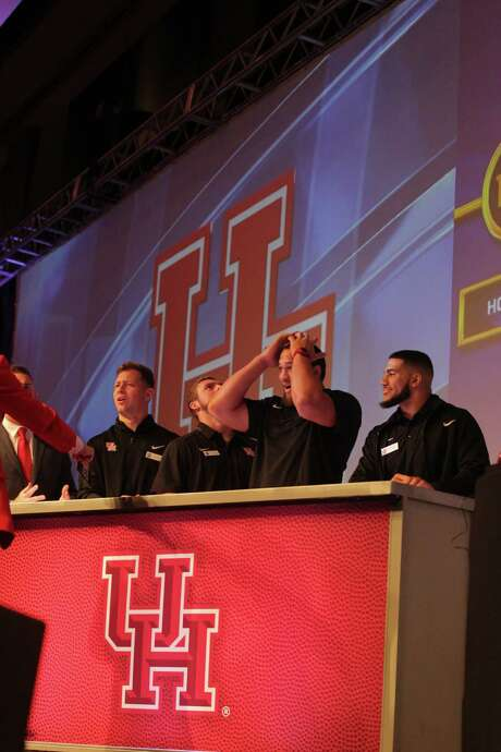 "UH players take part in a ""Family Feud"" competition against their Florida State counterparts last year at the Peach Bowl, a tame activity compared to the temptations that await this week in Las Vegas. Photo: Elizabeth Conley, Staff / © 2015 Houston Chronicle"