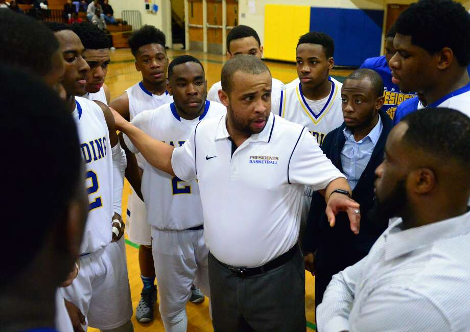 Charles Clemons stepped down as boys basketball coach at Harding after five years at the helm. Photo: Christian Abraham / Hearst Connecticut Media / Connecticut Post