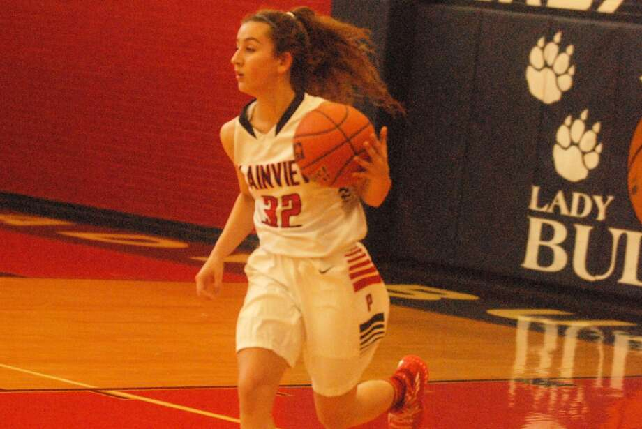 Plainview's Amela Dizdarevic dribbles upcourt during a game earlier this season. The senior scored 14 points and pulled down seven rebounds to help the Lady Bulldogs to a 45-44 win at Palo Duro in their District 3-5A opener Tuesday night. Photo: Skip Leon/Plainview Herald