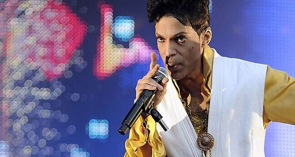 (FILES) This file photo taken on June 30, 2011 US singer and musician Prince performing on stage at the Stade de France in Saint-Denis, outside Paris. Prince, who scrapped a hotly anticipated