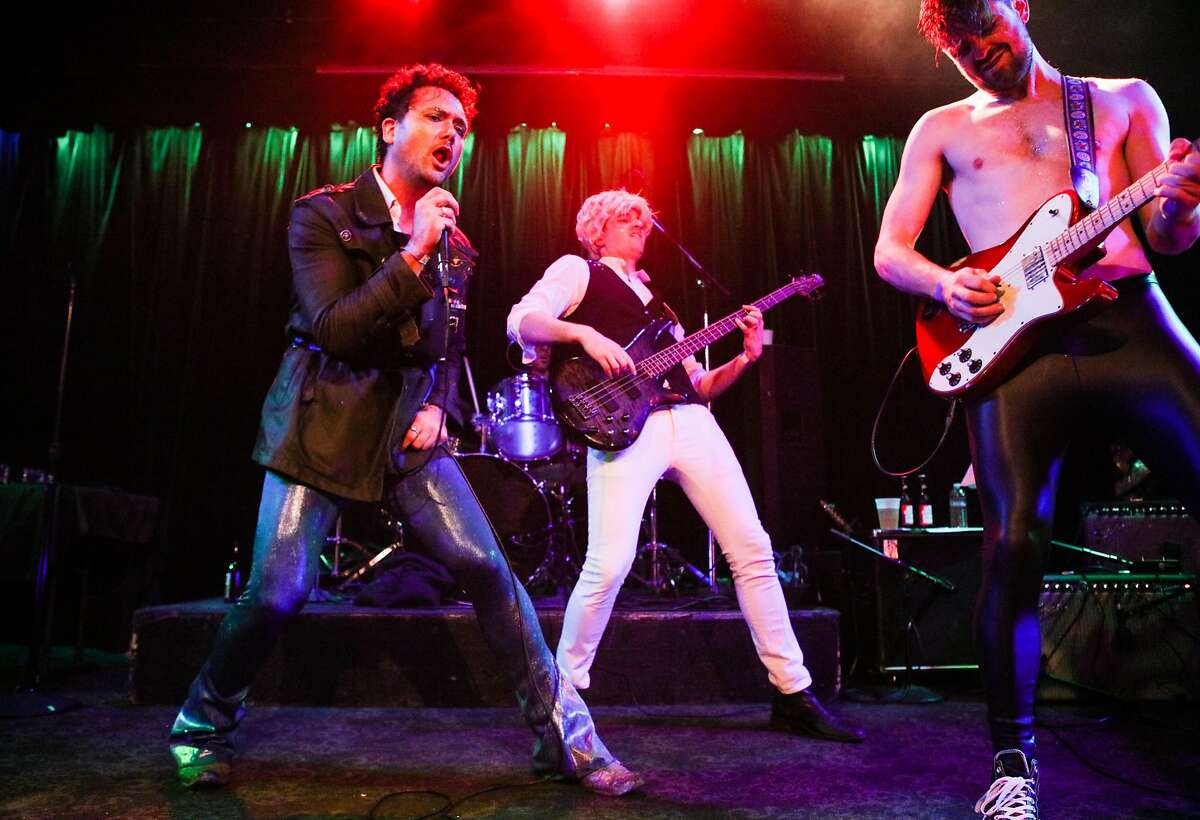 The Church of the Sacred Sexualsilver performs a David Bowie tribute concert at Slim's in San Francisco, California on Wednesday, January 13, 2016.