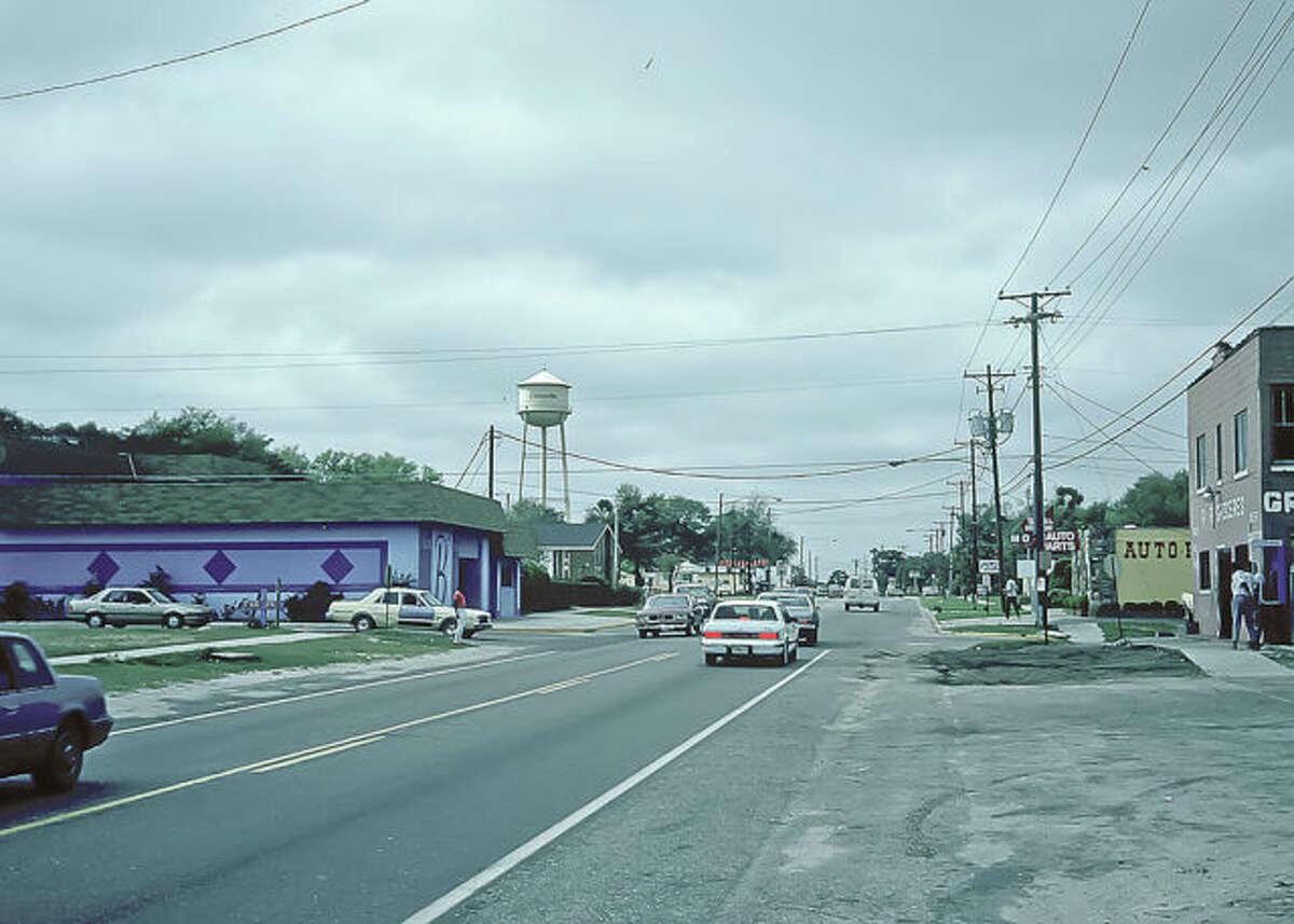 Kennedy Boulevard (Old Apopka Road), in Eatonville, Orange County, Fla., prior to roadway improvements.