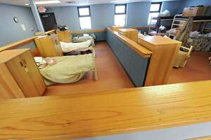 One of the sleeping quarters in the men's shelter at the City Mission on Thursday, Feb. 19, 2015 in Schenectady, N.Y. (Lori Van Buren / Times Union)