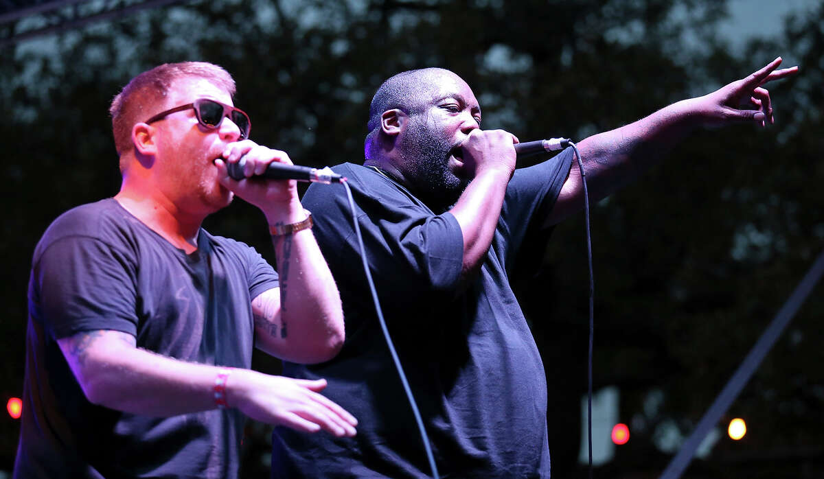 Run The Jewels'El-P (left) and Killer Mike just played Day for Night in Houston last month. They release another album of fiery hip-hop,