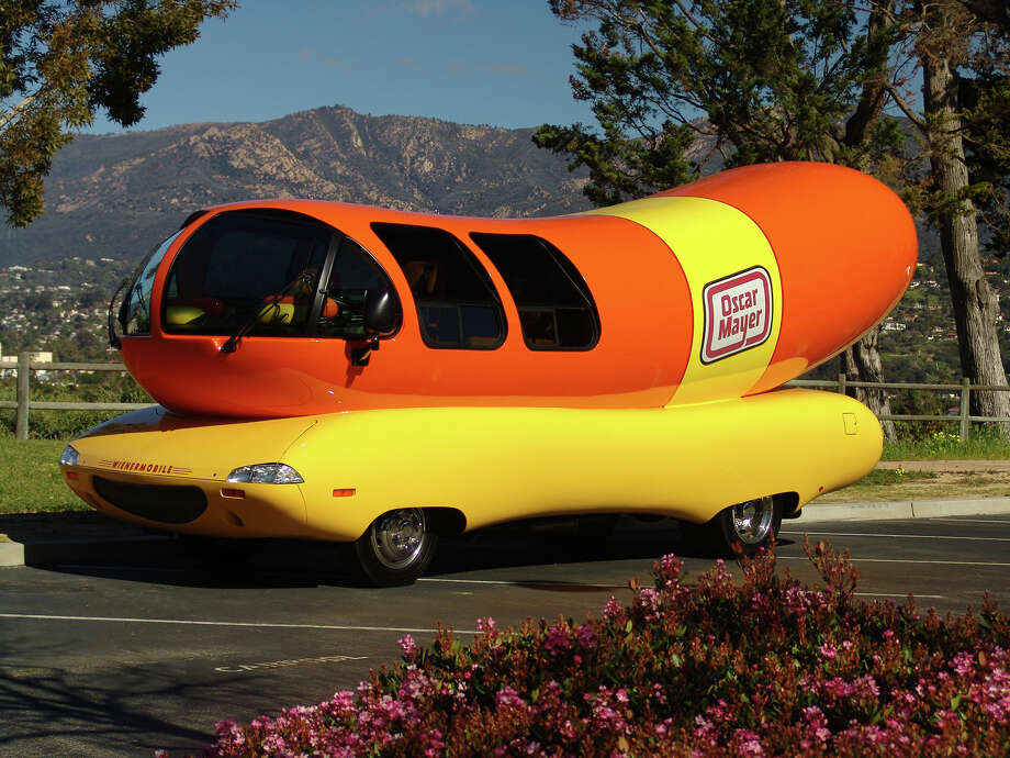 The world famous Oscar Meyer Wienermobile will be in Edwardsville at Dierbergs from 2:30 p.m. until  5 p.m. Friday.  Visitors are can take inside tours of the vehicle, have photos taken with bacon and hotdog cutouts and receive famous Oscar Mayer whistles. The  event is free and family friendly. Photo: For The Intelligencer