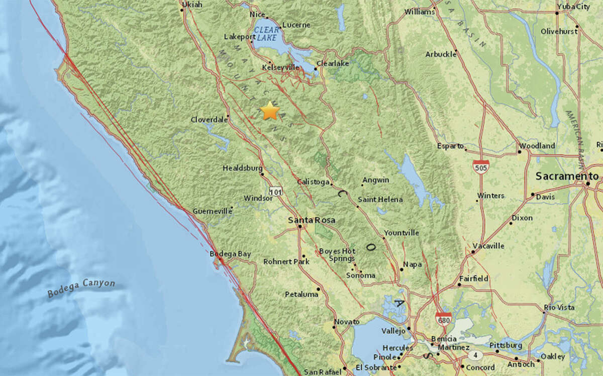 A magnitude 5.0 earthquake struck 4 miles west northwest of Geysers, California at 8:41 this morning
