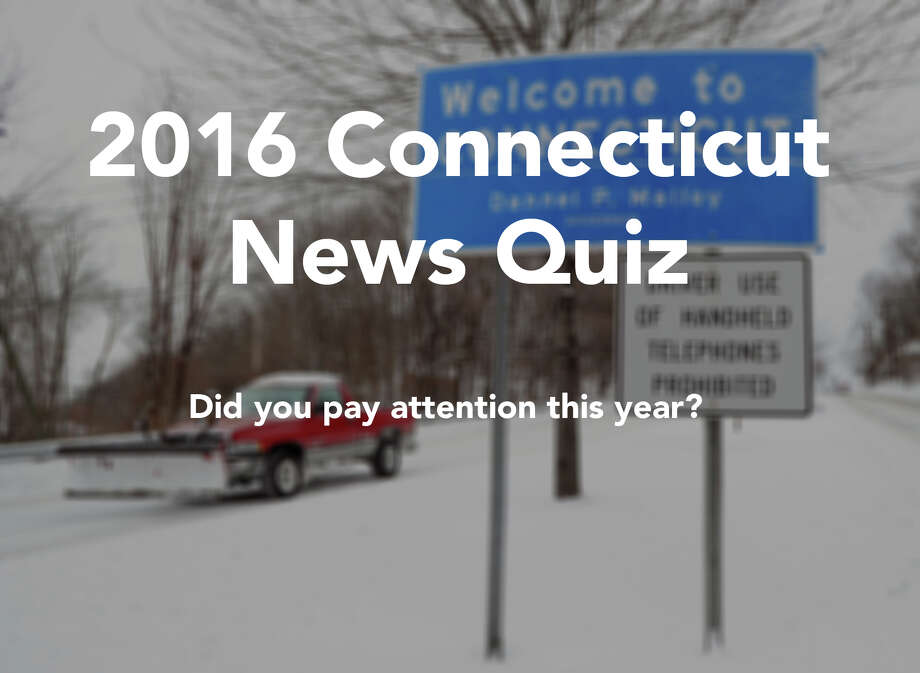 Click through to test your knowledge of some of Connecticut's biggest (and quirkiest) news stories of the year. Click the link below each slide to refresh your memory.  / Greenwich Time