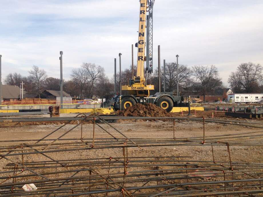 Work is well underway on Edwardsville's new public safety building, which is being constructed off South Main Street near Schwarz Street in front of Leon Corlew Park. The $11.9 million facility is being built with a 14-month completion window. Construction started last August meaning the structure should be completed by October.