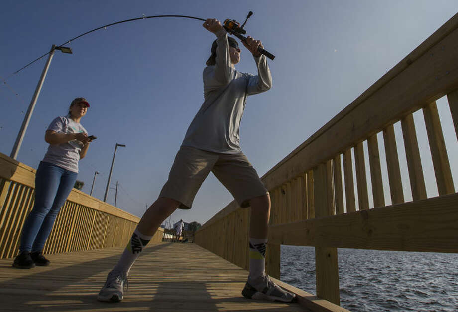The Lee and Joe Jamail Bay Park is now open to the public. Photo: Stuart Villanueva/Galveston Daily News