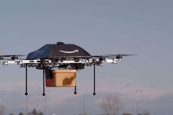 An Amazon Prime Air drone completed its first delivery to a customer outside Cambridge in the United Kingdom on Dec. 14.