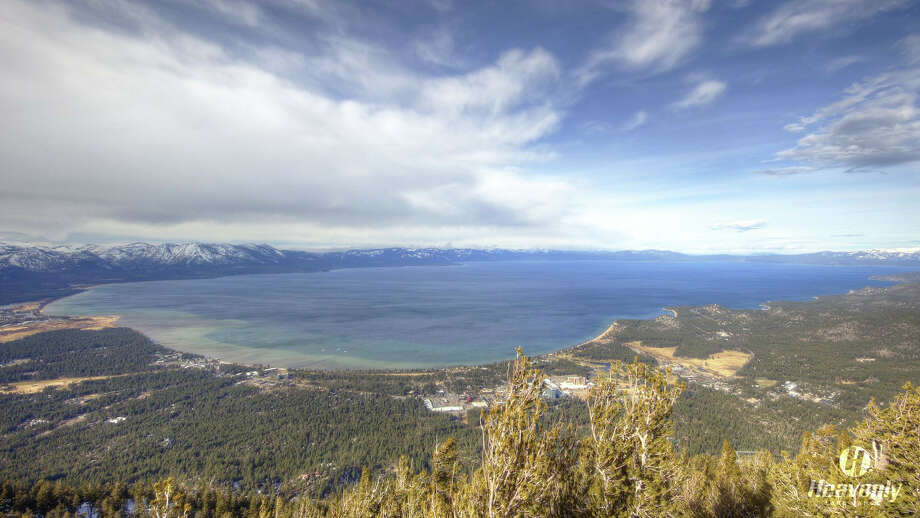 Lake Tahoe is swelling after a rainy October and November: Lake Tahoe reached its natural rim after weekend storms dumped 12.5 billion gallons of water into the lake. Photo taken from the Heavenly ski resort web camera on December 14, 2016. Photo: Heavenly Ski Resort