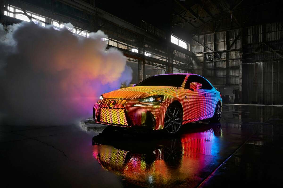 To highlight the new design of the IS, Lexus revealed a custom vehicle wrapped in 41,999 programmable LEDs. >>Click to see more LIT IS photos, and to see cars that will be discontinued in 2017.