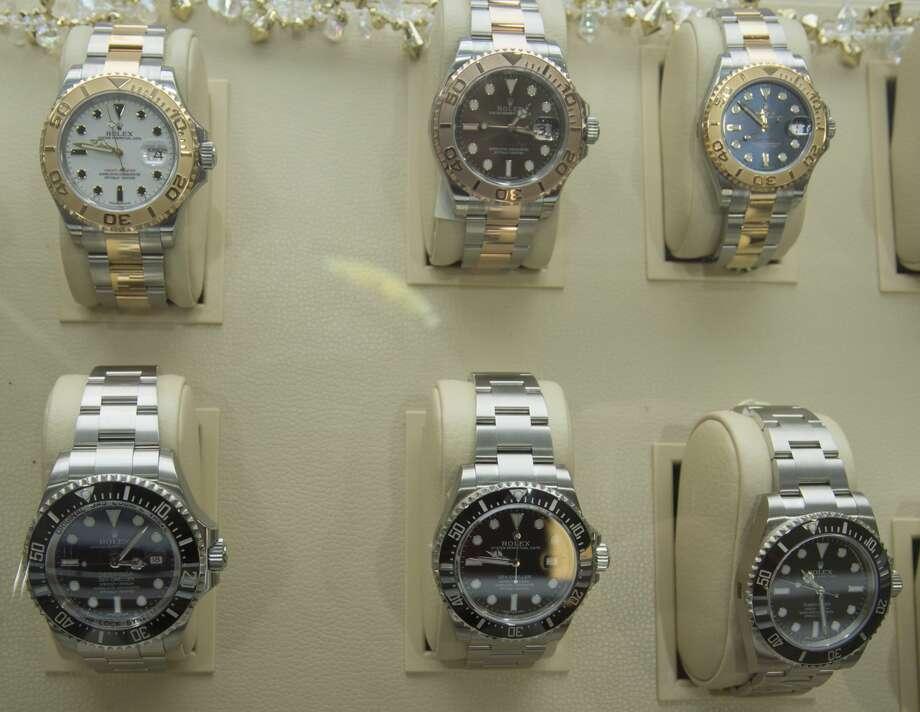 A few examples of Rolex watches: Photo: Tim Fischer/Midland Reporter-Telegram