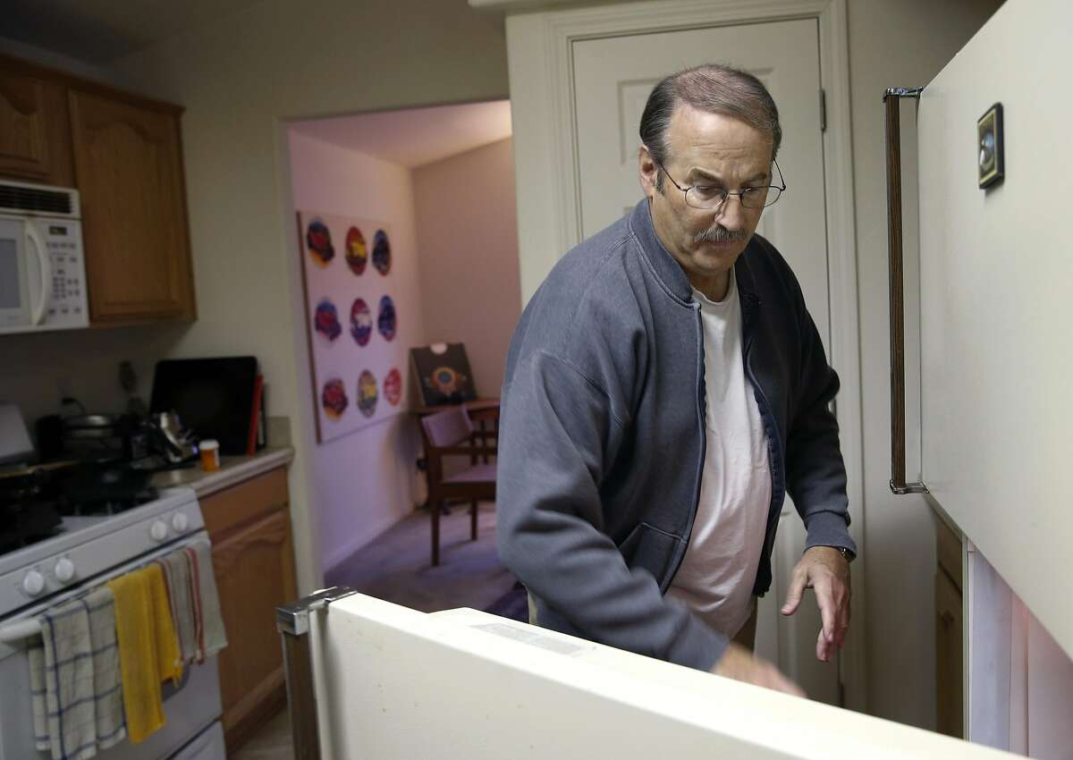 Larry Hyson makes breakfast at his home in Calistoga, Calif. before leaving for work on Wednesday, Dec. 14, 2016. The Chronicle's Season of Sharing program helped Hyson avoid eviction when he fell behind in his rental payments on his home.