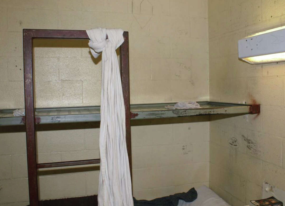 Jimi Johnson, 27, and Brandon Dahl, 31, both died by suicide in Mason County Jail. Dahl's cell is pictured above.