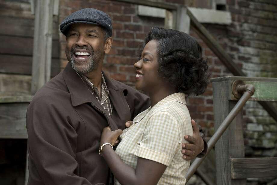 "Denzel Washington and Viola Davis in ""Fences."" Photo: David Lee, Associated Press"