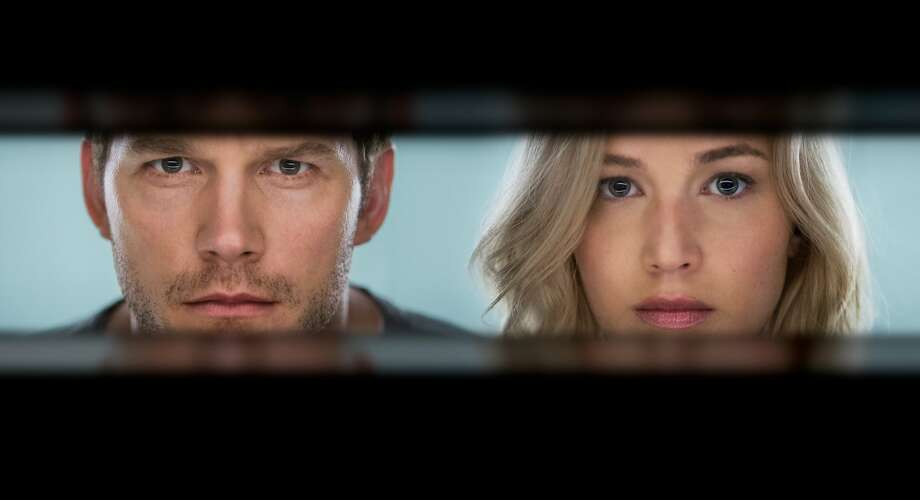"Chris Pratt and Jennifer Lawrence in ""Passengers."" Photo: Jaimie Trueblood"