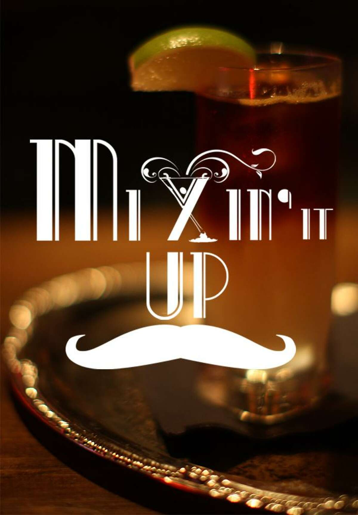 Poster for Mixin' It Up, a new travel and cocktails show featuring bar owner Jeret Peña.