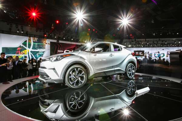 The newly unveiled 2018 Toyota C-HR.