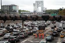FORT LEE, NJ - SEPTEMBER 7:  Traffic approaches the George Washington Bridge, September 7, 2016 in Fort Lee, New Jersey. Jury selection begins on Thursday for the New Jersey 'Bridgegate' trial. Two former allies of New Jersey Governor Chris Christie stand accused of intentionally causing traffic gridlock in Fort Lee during morning rush hour for a week in September 2013. (Photo by Drew Angerer/Getty Images)