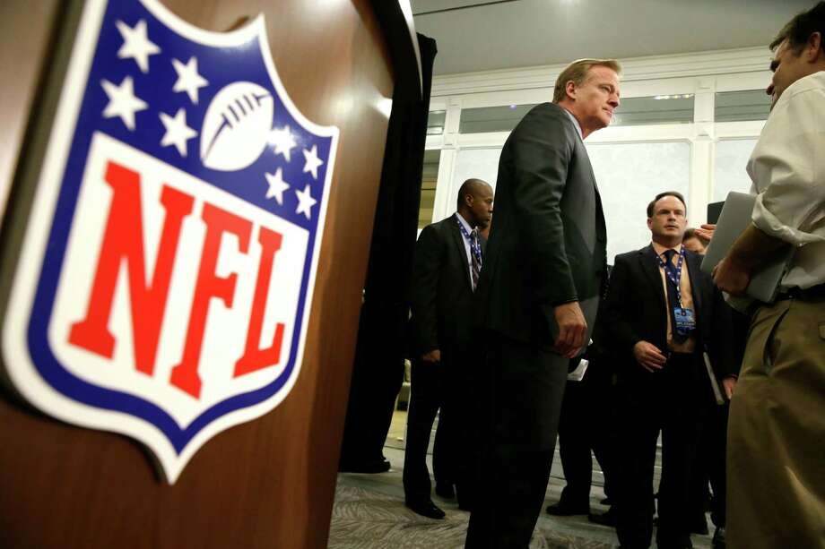 NFL Commissioner Roger Goodell listens to a reporter's question after the NFL football owners meeting in Irving, Texas, Wednesday. Photo: LM Otero, Associated Press / Copyright 2016 The Associated Press. All rights reserved.