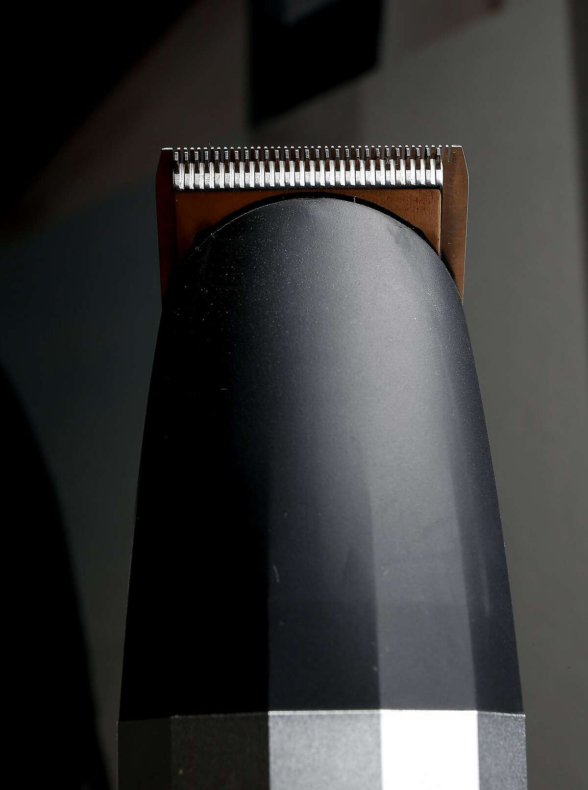 The Walker and Co., Bevel trimmer is on display at the company headquarters in Palo Alto, Calif., Wednesday, Dec. 14, 2016. The health and beauty company currently offers a shaving line geared toward people of color.