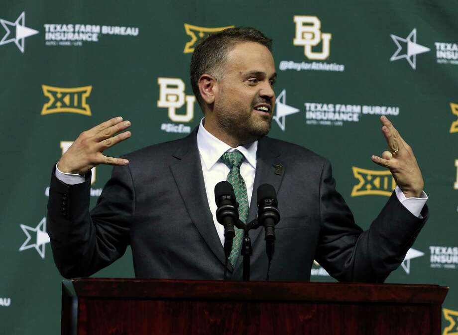 Matt Rhule was proactive in educating his athletes about domestic violence even before he was introduced as Baylor's new football coach last month. Photo: Rod Aydelotte, MBO / Waco Tribune-Herald