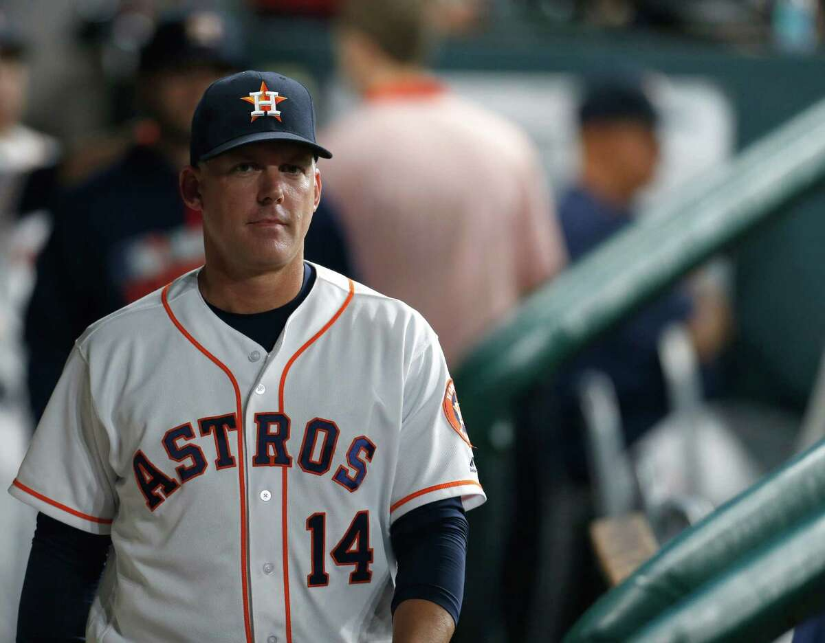 Houston Astros manager A.J. Hinch (14) will have a multitude of lineup options after the team's offseason additions.