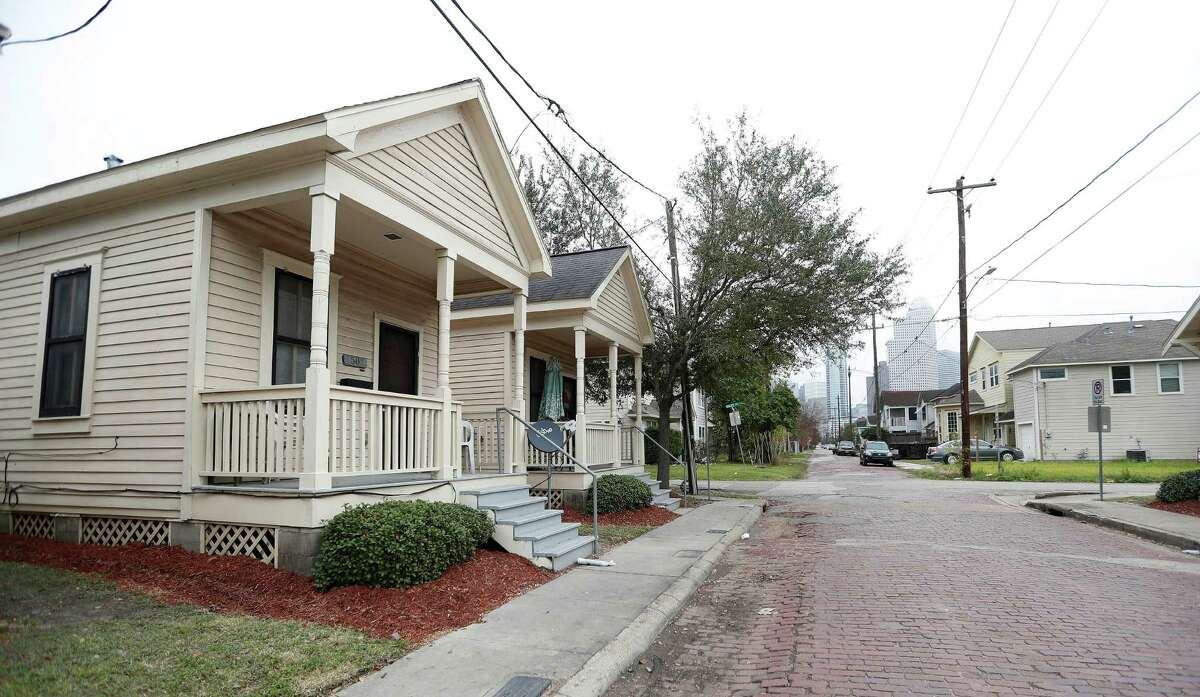 The Houston City Council voted last year to designate a series of Houston Housing Authority rental houses in Freedmen's Town as protected landmarks.